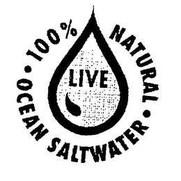 mark for LIVE 100% NATURAL SALTWATER OCEAN, trademark #76546067