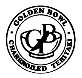 mark for GB GOLDEN BOWL CHARBROILED TERIYAKI, trademark #76549537