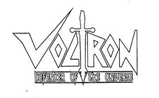 mark for VOLTRON DEFENDER OF THE UNIVERSE, trademark #76549870