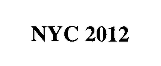 mark for NYC 2012, trademark #76556490
