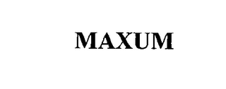 mark for MAXUM, trademark #76556810