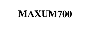 mark for MAXUM700, trademark #76556815