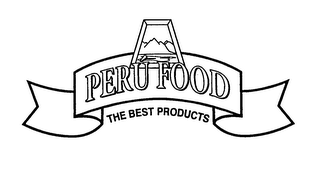 mark for PERU FOOD THE BEST PRODUCTS, trademark #76580706