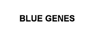 mark for BLUE GENES, trademark #76593084
