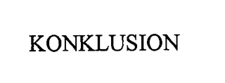 mark for KONKLUSION, trademark #76594558