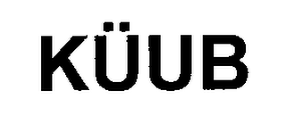 mark for KÜUB, trademark #76599086