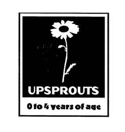 mark for UPSPROUTS 0 TO 4 YEARS OF AGE, trademark #76599186