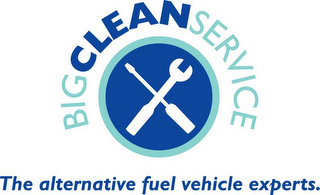mark for BIG CLEAN SERVICE THE ALTERNATIVE FUEL VEHICLE EXPERTS., trademark #76600183