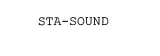 mark for STA-SOUND, trademark #76605060