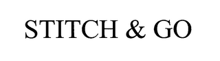 mark for STITCH & GO, trademark #76605558
