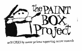 mark for THE PAINT BOX PROJECT ART WORKS BY CANCER PATIENTS SUPPORTING CANCER RESEARCH, trademark #76607138