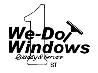 mark for WE-DO WINDOWS QUALITY & SERVICE 1ST, trademark #76608719
