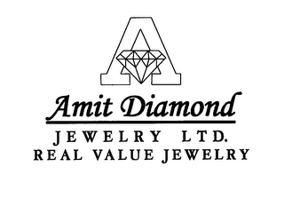 mark for A AMIT DIAMOND JEWELRY LTD.  REAL VALUE JEWELRY, trademark #76611262