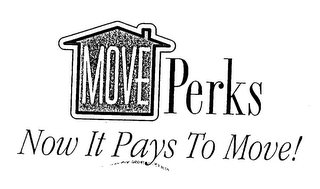 mark for MOVE PERKS NOW IT PAYS TO MOVE!, trademark #76611632