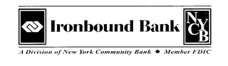 mark for IRONBOUND BANK A DIVISION OF NEW YORK COMMUNITY BANK NYCB MEMBER FDIC, trademark #76616080