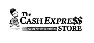 mark for THE CASH EXPRE$$ STORE WHERE PAYDAY IS EVERYDAY, trademark #76617720