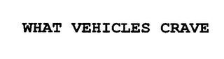 mark for WHAT VEHICLES CRAVE, trademark #76618433