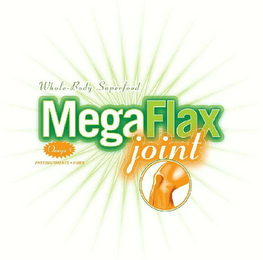 mark for WHOLE-BODY SUPERFOOD MEGA FLAX JOINT OMEGA 3 PHYTONUTRIENTS - FIBER, trademark #76619586