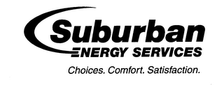 mark for SUBURBAN ENERGY SERVICES CHOICES. COMFORT. SATISFACTION., trademark #76620204