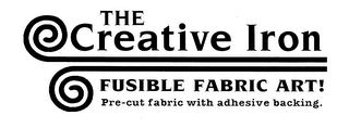 mark for THE CREATIVE IRON FUSIBLE FABRIC ART! PRE-CUT FABRIC ADHESIVE BACKING., trademark #76621196