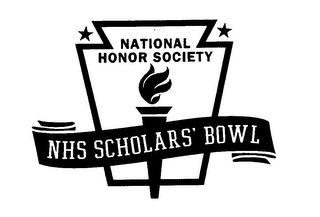 mark for NATIONAL HONOR SOCIETY NHS SCHOLARS' BOWL, trademark #76622885