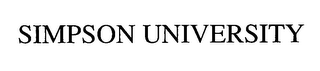 mark for SIMPSON UNIVERSITY, trademark #76623394