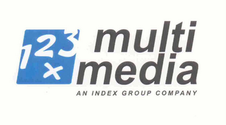 mark for 1 2 3 X MULTI MEDIA AN INDEX GROUP COMPANY, trademark #76624784