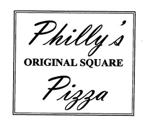 mark for PHILLY'S ORIGINAL SQUARE PIZZA, trademark #76627919