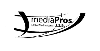 mark for MEDIA PROS GLOBAL MEDIA ACCESS U.S.A., trademark #76632485