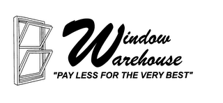"mark for WINDOW WAREHOUSE ""PAY LESS FOR THE VERY BEST"", trademark #76636855"