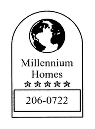 mark for MILLENNIUM HOMES 206-0722, trademark #76641166
