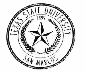 mark for TEXAS STATE UNIVERSITY SAN MARCOS 1899, trademark #76641884