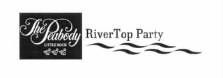 mark for THE PEABODY LITTLE ROCK RIVERTOP PARTY, trademark #76642253