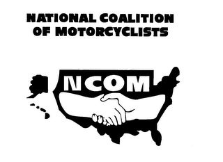 mark for NATIONAL COALITION OF MOTORCYCLISTS NCOM, trademark #76645108