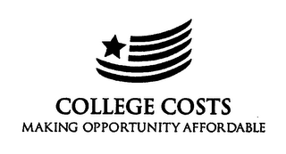 mark for COLLEGE COSTS MAKING OPPORTUNITY AFFORDABLE, trademark #76647554