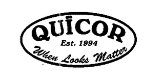 mark for QUICOR EST. 1994 WHEN LOOKS MATTER, trademark #76649521