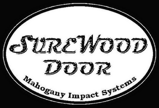 mark for SUREWOOD DOOR MAHOGANY IMPACT SYSTEMS, trademark #76649859
