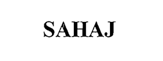 mark for SAHAJ, trademark #76651781
