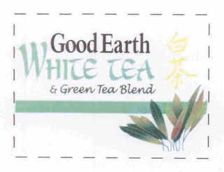 mark for GOOD EARTH WHITE TEA & GREEN TEA BLEND, trademark #76654262