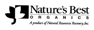 mark for NATURE'S BEST ORGANICS A PRODUCT OF NATURAL RESOURCES RECOVERY, INC., trademark #76655401