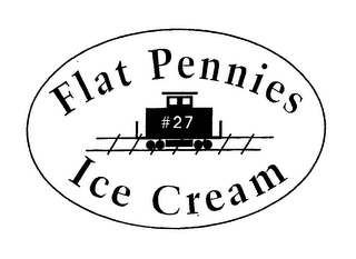 mark for FLAT PENNIES #27 ICE CREAM, trademark #76657973