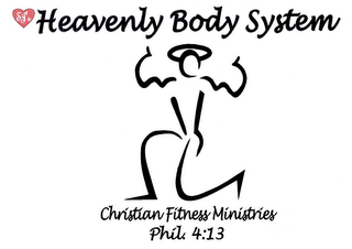 mark for HEAVENLY BODY SYSTEM CHRISTIAN FITNESS MINISTRIES PHIL. 4:13, trademark #76658380