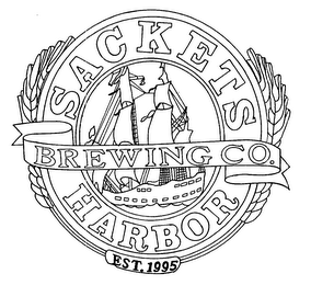 mark for SACKETS HARBOR BREWING CO. EST. 1995, trademark #76659404