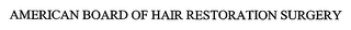 mark for AMERICAN BOARD OF HAIR RESTORATION SURGERY, trademark #76663853