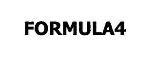 mark for FORMULA4, trademark #76666180