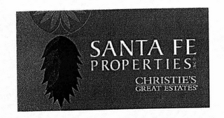 mark for SANTE FE PROPERTIES CHRISTIE'S GREAT ESTATES, trademark #76670803