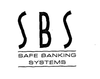 mark for SBS SAFE BANKING SYSTEMS, trademark #76671331