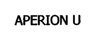 mark for APERION U, trademark #76672790