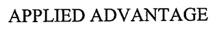 mark for APPLIED ADVANTAGE, trademark #76675725