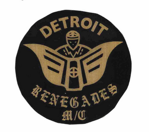 mark for DETROIT RENEGADES M/C, trademark #76688437